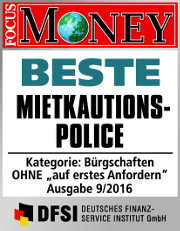 Siegel Focus Money Beste Mietkautionsplice